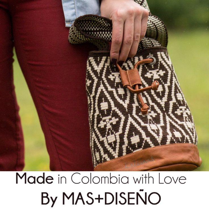 Mochila Wayuu + Cuero // Wayuu Bag + Leather