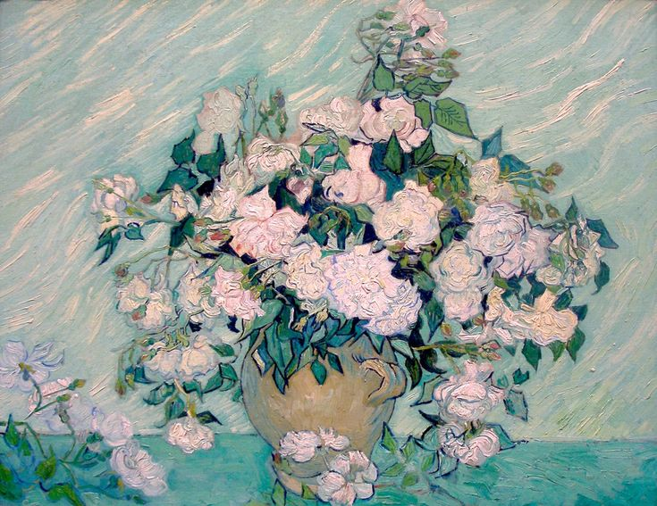 Vincent van Gogh, 'Roses', 1890, Oil on canvas, National Gallery of Art
