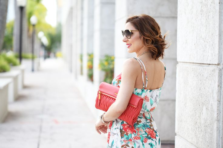 Blame it on Mei Miami Fashion Blogger 2016 Spring Outfit Casual Look Maxi Dress Florals Coral Clutch Louis Vuitton Cateye Sunglasses Soft Waves Short Hair Miu Miu Clutch How to Wear a Maxi Dress Blame-it-on-Mei-Miami-Fashion-Blogger-2016-Spring-Outfit-Casual-Look-Maxi-Dress-Florals-Coral-Clutch-Louis-Vuitton-Cateye-Sunglasses-Soft-Waves-Short-Hair