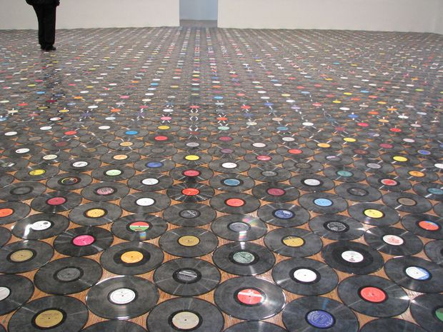 "Christian Marclay's piece ""2822 Records"""