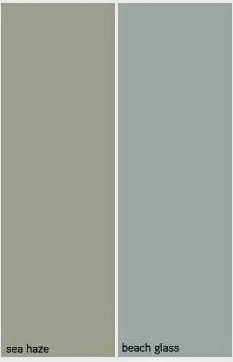 Benjamin Moore Beach Glass - Beachy names, but very soft and pretty colors