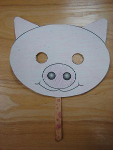 Paper Plate Pig Template | found our pig mask template here at Animal Jr .