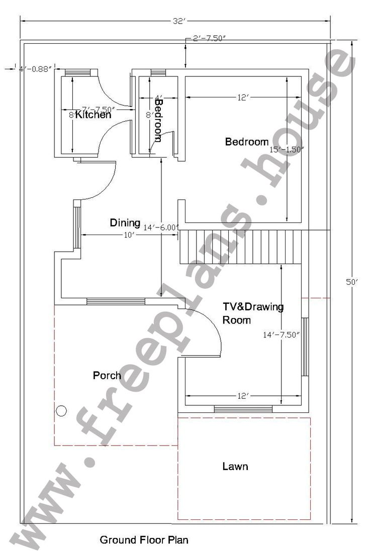 15square Metres House Ideas: 32×50 Feet/148 Square Meters House Plan,