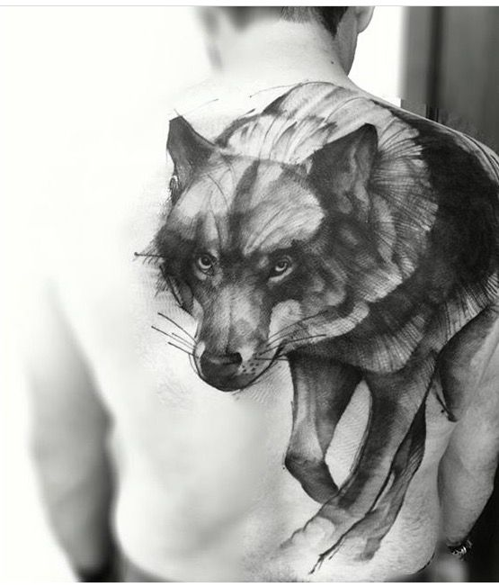 Wolf #wolf #tattoo #blacktattoo #lobo #tattoo #lincoln