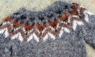 This lovely Fox sweater is made from Létt lopi, Icelandic wool.