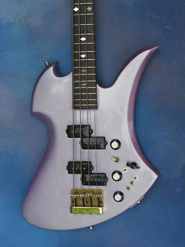 1980 B C Rich Mockingbird Bass RARE Violet Pearl   eBay