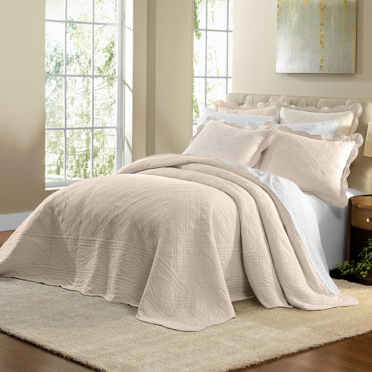 (in red) $99 Florence Oversized Cotton Bedspread | Bedspreads | Brylanehome