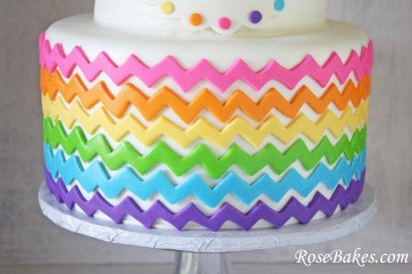 17 Best Ideas About Chevron Birthday Cakes On Pinterest