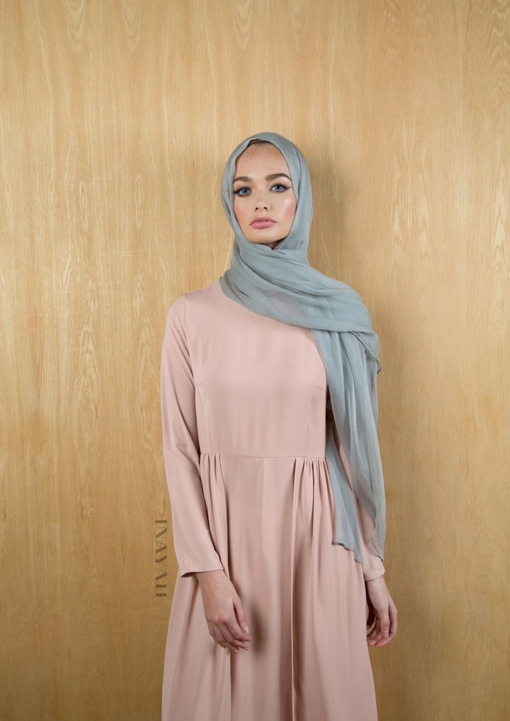 Subtle hues and fresh looks. Leap into the new season with an updated wardrobe - Dusky Pink Maxi with Skirt Overlay - available online and in-store! Feather Grey Maxi Silk Chiffon Hijab - www.inayah.co