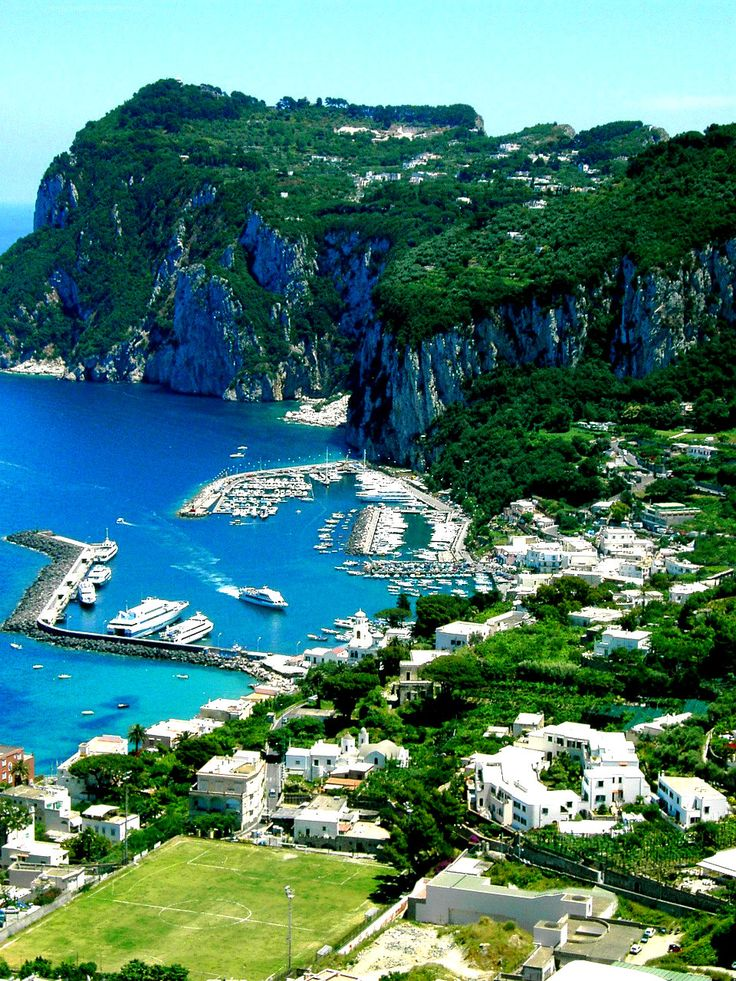 Marina Grande - where most people arrive in Capri