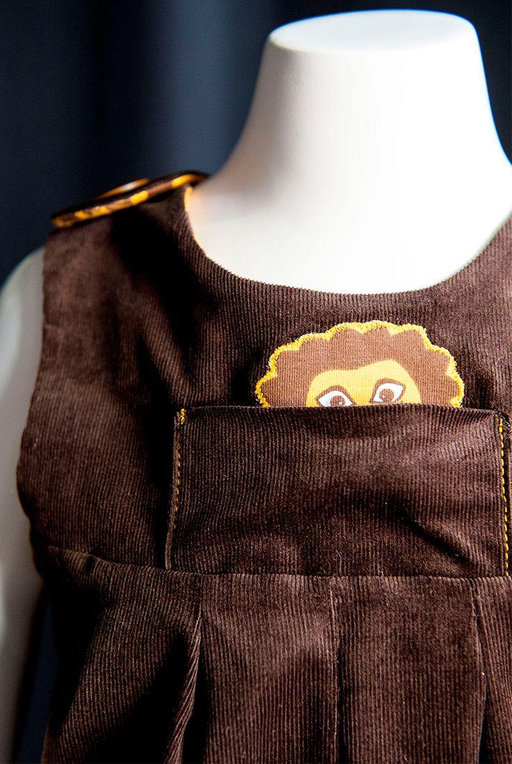 Söt detalj skapad av Lisa i mönsterutmaningen nummer 4 i Hela Sverige syr #HelaSverigesyr