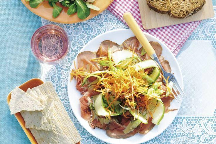 Kijk wat een lekker recept ik heb gevonden op Allerhande! Japanse carpaccio De mayo vervangen door een light versie of Griekse yoghurt