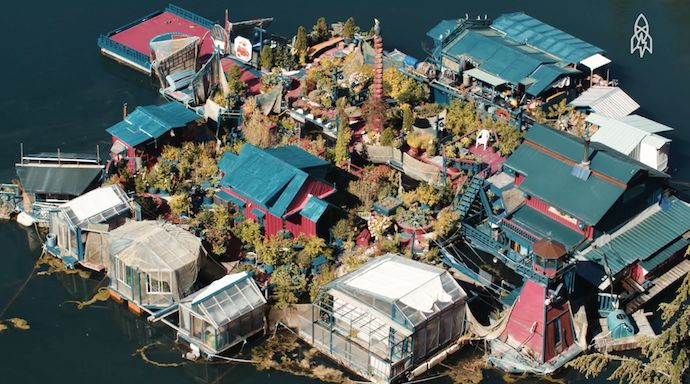 WATCH: Off The Grid on a Homemade Island