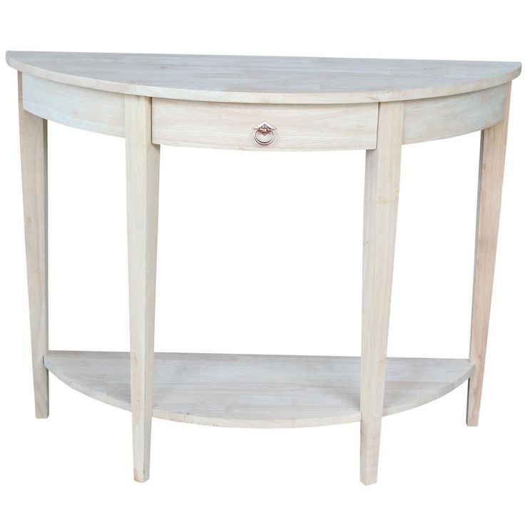 Unfinished Storage Console Table