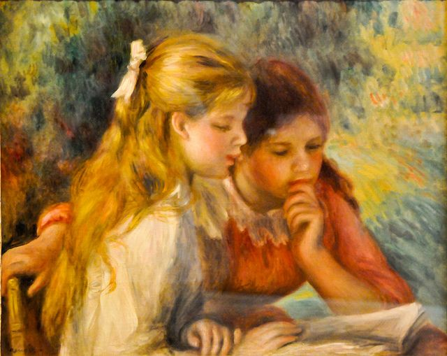 I just adore art... Pierre Auguste Renoir - La Lecture at Louvre