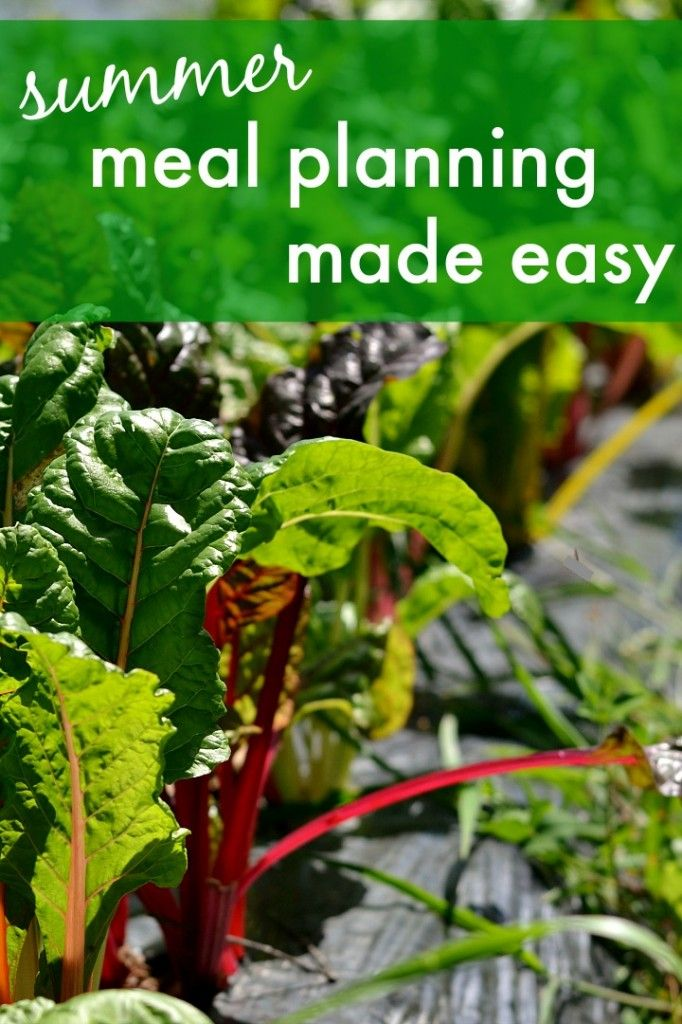 Summer meal planning made easy - Simplify your life