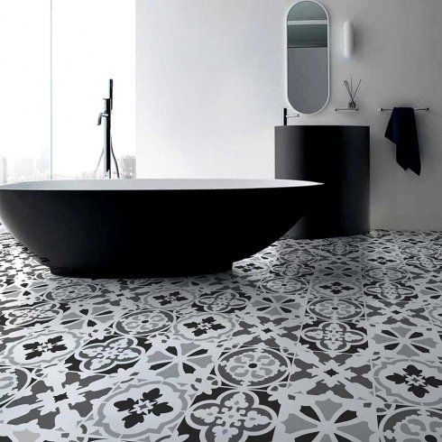 Portuguese Tile Stencil Set is great for stenciled creating a tiled floor look via Cutting Edge Stencils http://www.cuttingedgestencils.com/portuguese-tile-stencils-patchwork-tiles-stencil-azulejos.html