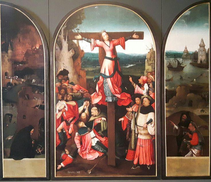 Trittico di Santa Liberata o Wilgefortis. 1497.