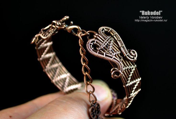 Wire Wrapped Bracelet Natural agate от vorobev на Etsy