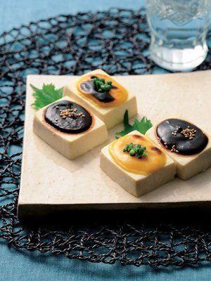 Tofu Dengaku 田楽 - rectangular miso-rubbed tofu passed over a flame ...