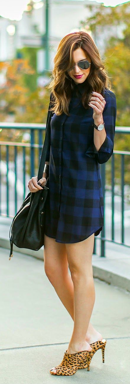 Daily New Fashion : Mad for plaid in this LuLu*s shirt dress http://stylesvogue.com/homecoming-dresses-2014/
