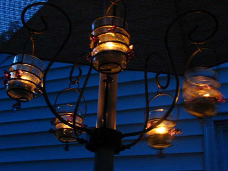 I Like This Look But Would Prefer Either Solar Powered Or Battery Operated  Bulbs As Opposed. Patio Umbrella LightsPatio ...