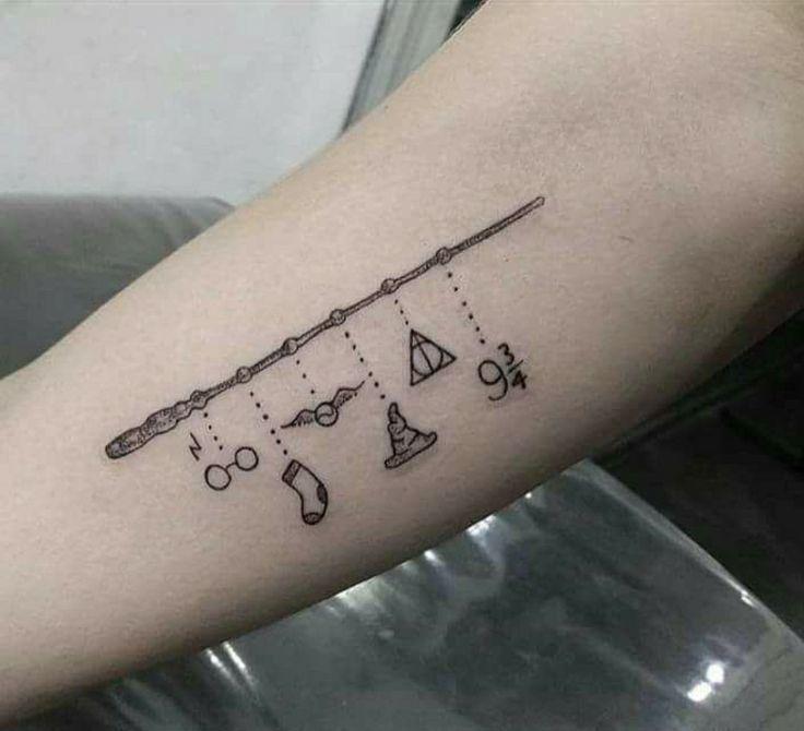 Pin Von Amanda Seyler Auf Ink Harry Potter Tattoos Tatowierungen Harry Potter Zauberstab