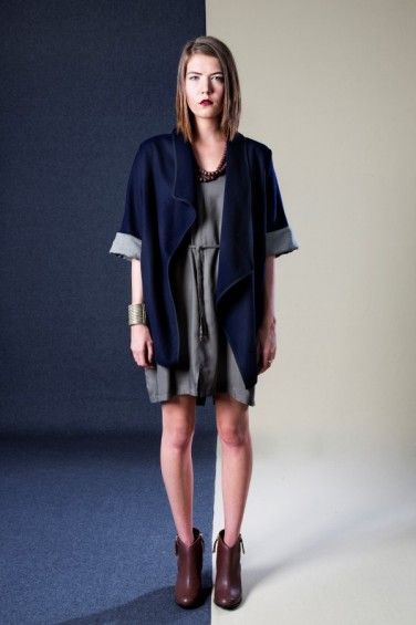 Asymmetrical Drape Coat