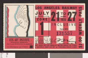 Los Angeles Railway weekly pass, 1935-07-21 :: LA as Subject