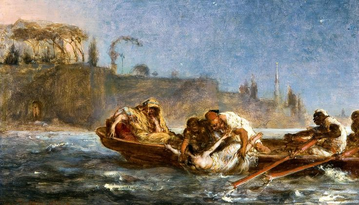 Drowned in the Bosphorus by Jan Matejko, 1872 (PD-art/old), Ossolineum