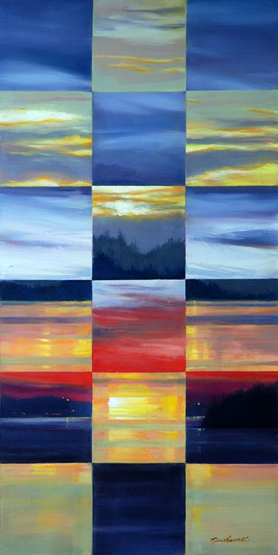 Sunrise Sunset (30 x 15 in oil)