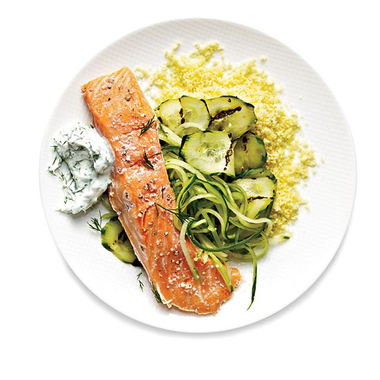 Turn salmon buttery-soft and rare in just 12 minutes. For more-well-done fish, up the water temperature. Try this Greek-style recipe with yogurt sauce and grilled cucumber.