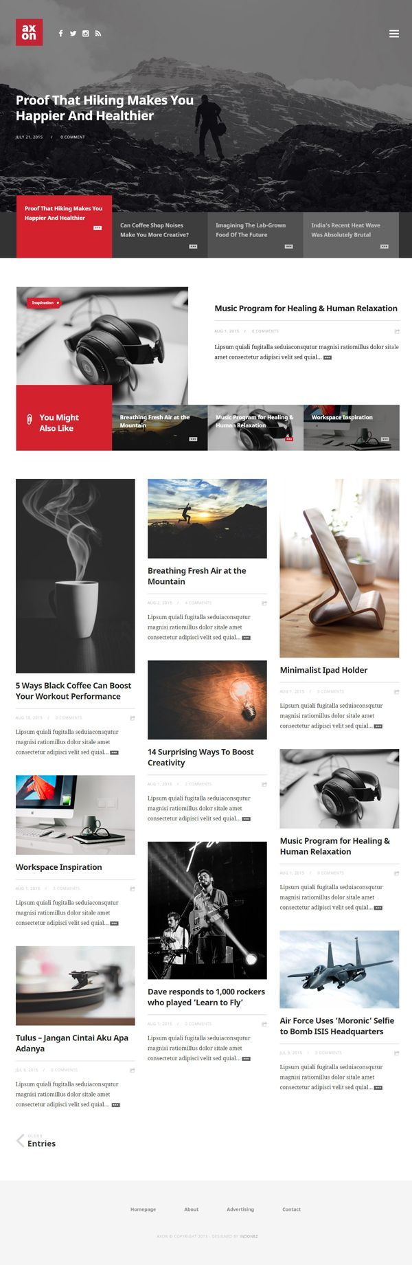magazine web template