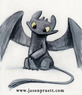 """Aquí os dejo a desdentado de """"Como entrenar a tu dragón"""" M'ENCANTA"""