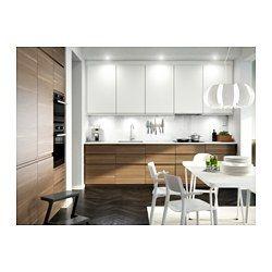 IKEA - VOXTORP, Deur onderhoekkast, 2-delig, rechts gemonteerd/walnootpatroon, , De VOXTORP keukendeur heeft een glad oppervlak en geïntegreerde handgrepen, waardoor je keuken een stijlvolle, open en moderne uitstraling krijgt.Door de diepe handgreep is de deur makkelijk te openen.Gratis 25 jaar garantie. Raadpleeg onze folder voor de garantievoorwaarden.