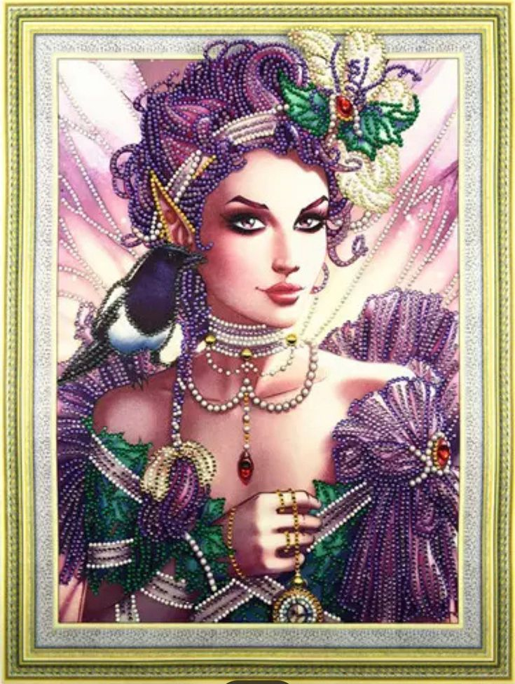 US Seller. 50x40cm Large, Beautiful Enchanted Lady, Clear