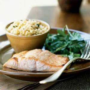 Ginger Glazed Salmon with Arugula Salad | MyRecipes.com: Glaze Salmon ...