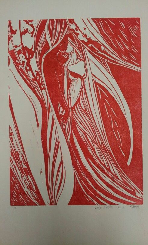 Soul union > relief print red