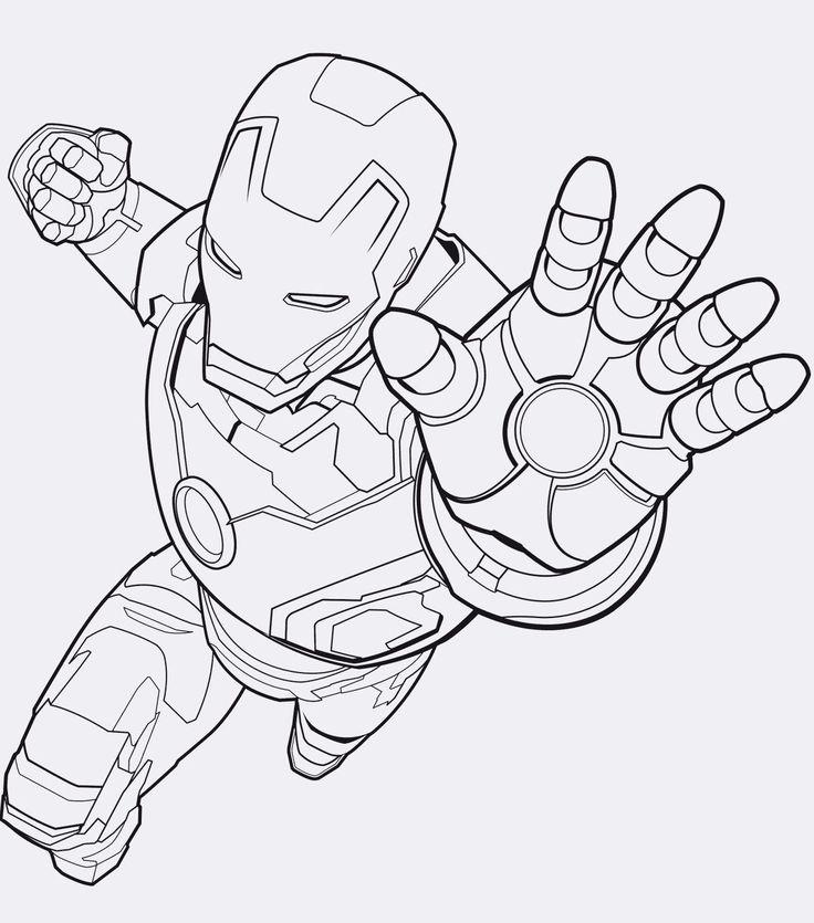 Ausmalbilder Avengers Iron Man e1541616601319  #ironman #avengers #printables #f…