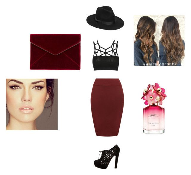 """Out in town"" by elmiller95 on Polyvore featuring WearAll, Valentino, Rebecca Minkoff, Lack of Color and Marc Jacobs"