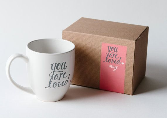 Love this! :: you are loved mug by pinkoliveinc on Etsy