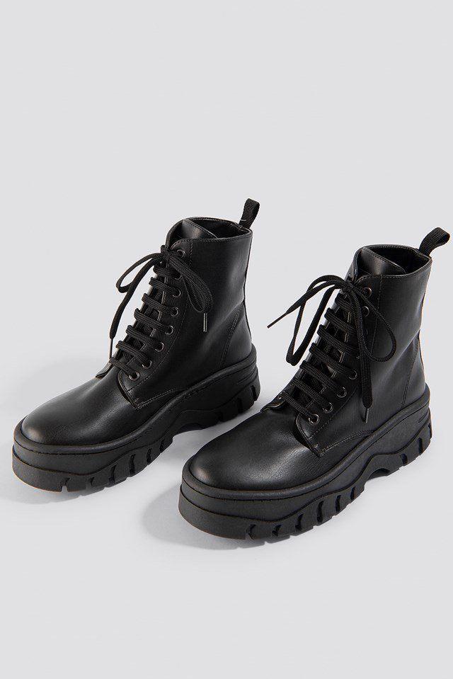 quality design ef4eb 92d7d Chunky Profile Combat Boots in 2019   things   Boots, Combat boots, Black  boots
