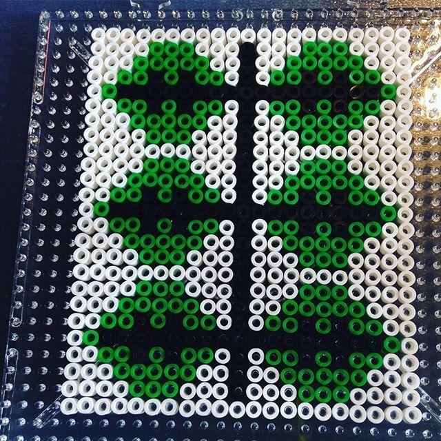 Leaf perler bead design by