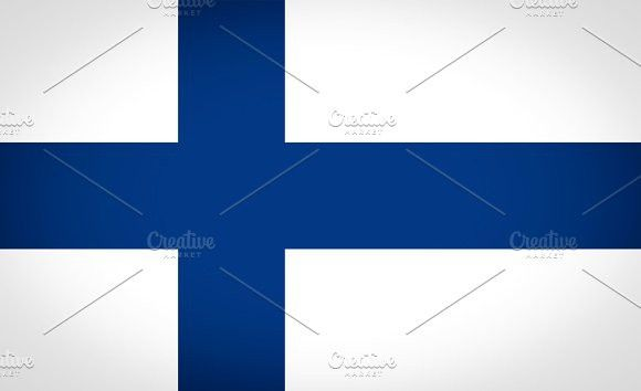 Flag of Finland. Europe #flags