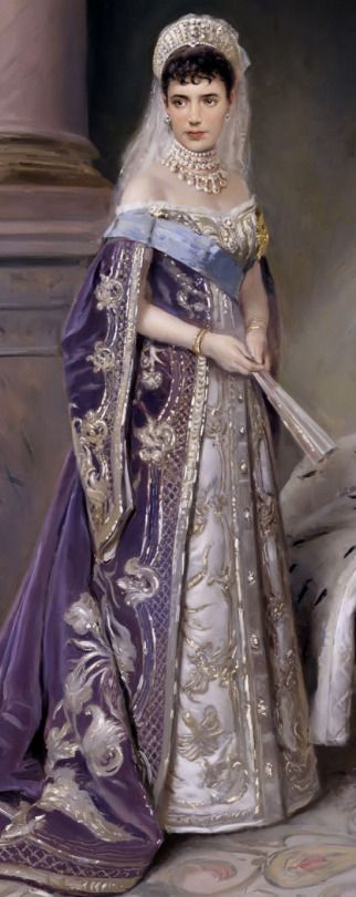 Vladimir Makovsky (1846-1920) Russian painter Empress Maria Fedorovna