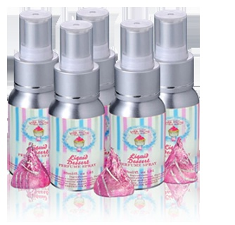 Liquid Dessert is a pure dessert perfume    spray that will have you filling a room with an aroma that is so divinely sweet & good enough to eat!