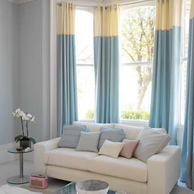 two tone curtains - love the colors