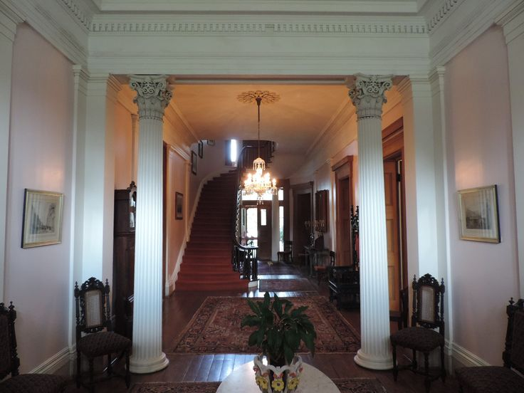 Madewood, Napoleonville, LA | View of the front hall.