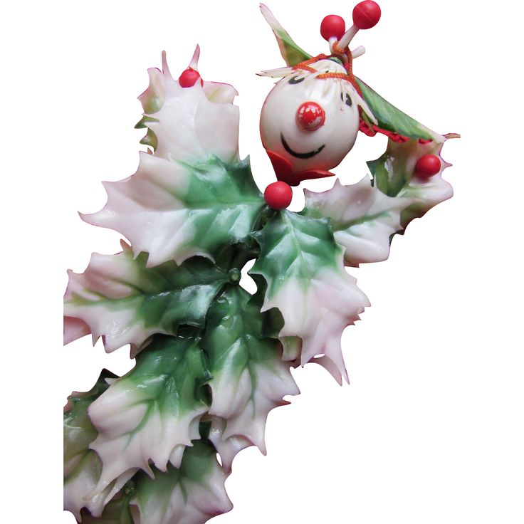 Christmas Holiday Decorations Ornaments Holly Leaf Men: