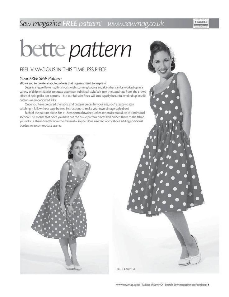 Vintage kleid schnittmuster kostenlos | SEWING - DRESSES | Pinterest ...